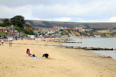 October beach, Swanage, Dorset. Stock Photo