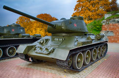 October 25, 2015 - Brest, Belarus:  A monument dedicated to a World War 2, located in Brest Fortress. Royalty Free Stock Photography