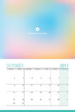 October 2017 calendar. With space for your picture Royalty Free Stock Photography