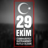 29 October Cumhuriyet Bayrami, Republic Day Turkey, Graphic for design elements. Vector illustration. Vector illustration with white text on a dark background Royalty Free Stock Photos