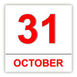 October 31. Day on the calendar. Stock Photos