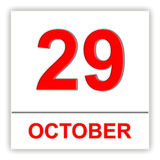 October 29. Day on the calendar. Stock Images