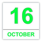 October 16. Day on the calendar. Royalty Free Stock Photography