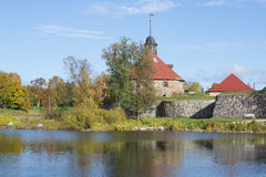 October day at the fortress Korela. Priozersk, Leningrad Region Royalty Free Stock Images