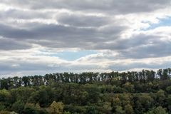 October deciduous European forest stock photography