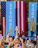 OCTOBER 12, 2016, Democratic Presidential Candidate Hillary Clinton campaigns at the Smith Center for the Arts, Las Vegas, Nevada Stock Image