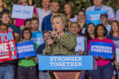 OCTOBER 12, 2016, Democratic Presidential Candidate Hillary Clinton campaigns at the Smith Center for the Arts, Las Vegas, Nevada Stock Photo