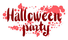 October 31 design lettering Stock Image