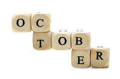 October Dices Royalty Free Stock Images