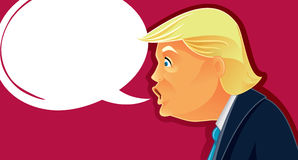 October 7, 2016, Donald Trump Vector Caricature Royalty Free Stock Photography