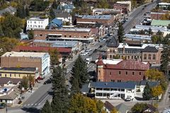 Elevated view of smalltown Ouray, Colorado. OCTOBER 6, 2017 - Elevated view of smalltown Ouray, Colorado Stock Photography