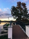 October 19, 2017, the embankment in Kaliningrad, a picturesque landscape royalty free stock image