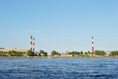 October embankment and Neva river Stock Photo