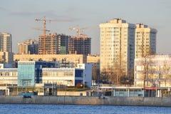 October Embankment in Petersburg Royalty Free Stock Image