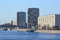 October Embankment in Petersburg Royalty Free Stock Photo