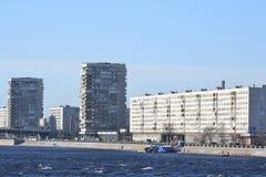 October Embankment in St. Petersburg. Royalty Free Stock Image