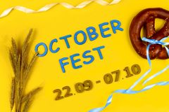 Ads event of october beer festival in autumn october month stock image