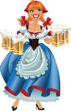 October fest girl with beer  Stock Images