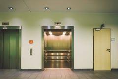 October 2018. Germany Helios Klinikum Krefeld. Interior hospital inside. Spacious deserted corridors of station, floor of new hosp. Ital, German European stock images