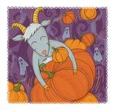 October goat Royalty Free Stock Photo
