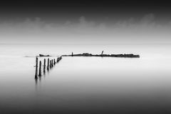October Groynes 1 Royalty Free Stock Images