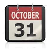 October 31, Halloween calendar Royalty Free Stock Image