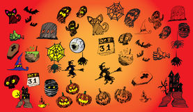 31 October Halloween  icon design background. October Halloween  icon design background Royalty Free Stock Photography