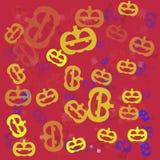 The  31 October halloween pattern vector  design. 31 October halloween pattern vector  design Royalty Free Stock Photo