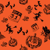 31 October Halloween vector icon design background Royalty Free Stock Photography