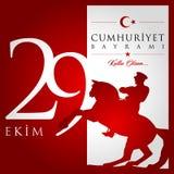 29 October, Republic Day Turkey celebration card. 29 ekim cumhuriyet bayrami vector illustration. (29 October, Republic Day Turkey celebration card.&#x29 Stock Photos