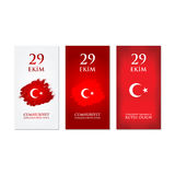 29 october Happy Republic Day Turkey. Royalty Free Stock Image