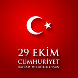 29 October Happy Republic Day Turkey. Stock Photos