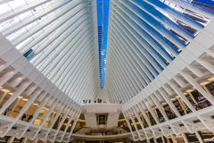 OCTOBER 24, 2016, Interior of Oculus Building, .main hall of the new Oculus, the World Trade Center Transportation Hub, Lower Ma. Nhattan, New York City, USA royalty free stock photo