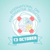 October  13 International Day for Disaster. Calendar for each day on october 13. Greeting card. Holiday -   International Day for Disaster Reduction. Icon in the Royalty Free Stock Images