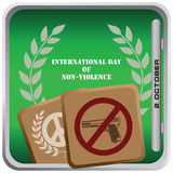 October 2 International Day of Non-Violence Royalty Free Stock Photo