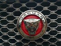 October 5, 2018 jaguar mark on car radiator royalty free stock image