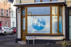 A Kinesiologists surgery window signage in Bangor County Down royalty free stock images