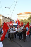 October 18, 2014 Miano, counter-march Lega Nord Stock Images