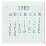 October 2016 monthly calendar Stock Photography