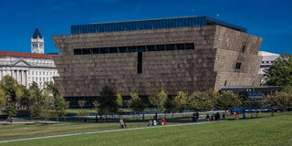 OCTOBER 28, 2016 - National Museum of African American History and Culture, Washington DC, near the Washington Monument Royalty Free Stock Images