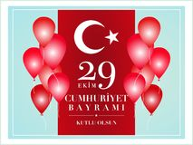 29 October National Republic Day of Turkey Stock Photos
