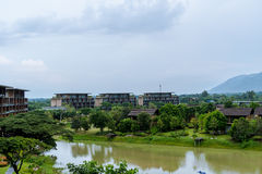 2 October 2016,Nature of Khaoyai,at ATTA Resort in thailand. This location is beautiful royalty free stock photo