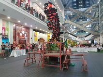 29 october 2016 , 2nd Malaysian National Traditional Lion Dance Championship 2016 at One City Subang USJ, Malaysia Royalty Free Stock Photography