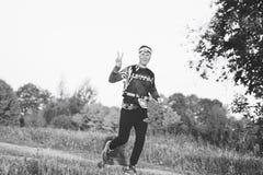 October 6, 2018 Novogrudok Belarus Castle Road Cross Country Run stock images