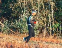 October 6, 2018 Novogrudok Belarus Castle Road Cross Country Run stock photo