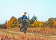 October 6, 2018 Novogrudok Belarus Castle Road Cross Country Run stock image