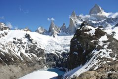 Fitz Roy in Patagonia. October 2006 - The peaks of the Fitz Roy group in the Argentine Patagonia near El Chalten Stock Photo