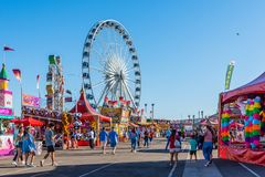 The Arizona State Fair. October 25, 2017: People stroll among the games, rides, and concession stands at the Arizona State Fair in Phoenix Stock Photography