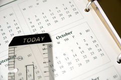 October on planner Stock Photo