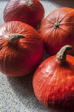 October pumpkin. On the kitchen table Royalty Free Stock Image